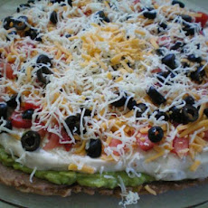 Layered Bean Taco Dip