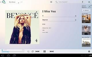Screenshot of Music Unlimited Tablet App
