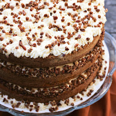 Pumpkin Spice Cake with Maple Frosting