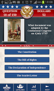 Genius US History Quiz - screenshot