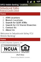 Screenshot of SVFCU Mobile Banking