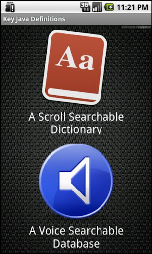 Key Java Definitions