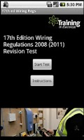 Screenshot of 17th ed Wiring Regs 2008(2011)