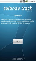 Screenshot of TeleNav Track