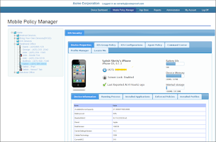Screenshot of Codeproof MDM for Android
