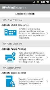 App HP ePrint Enterprise (service) APK for Windows Phone
