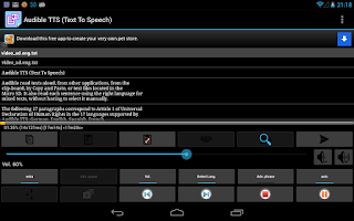Screenshot of Talk Text sf (Voice Reading)