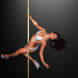 Rachel Pole Dancing by Lee Underwood - Sports & Fitness Fitness ( pole dancing, female, fitness, strength, health )