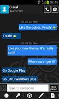 Screenshot of GO SMS Windows 8 Blue