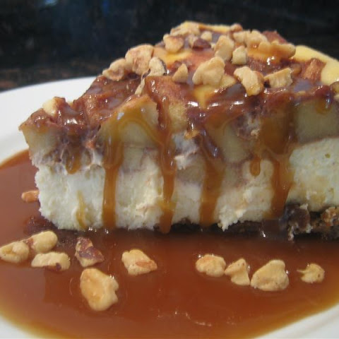 Spiced Apple Cheesecake with Rum Caramel Sauce
