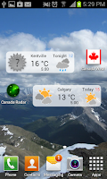 Screenshot of Canada Weather & Radar