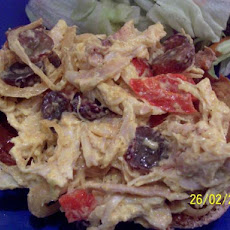 Curried Chicken Salad With Grapes and Red Peppers