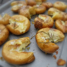Smashed Roasted New Potatoes