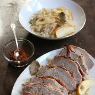 Roast Pork With Sauerkraut and Apples