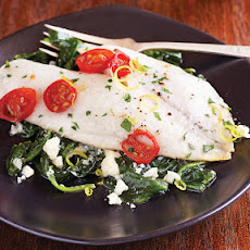 Greek Fish Florentine