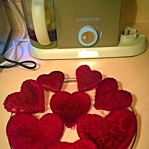 Valentine's Day Healthy Red Pancakes