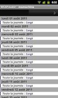 Screenshot of WCAP calendar reader