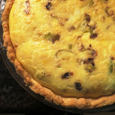 Caramelized Leek Tart with Bacon and Brie