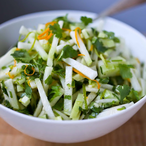 Kohlrabi Slaw with Cilantro and Lime