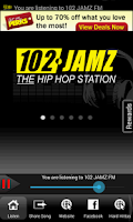 Screenshot of 102 JAMZ FM