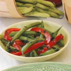 Green Beans with Red Peppers
