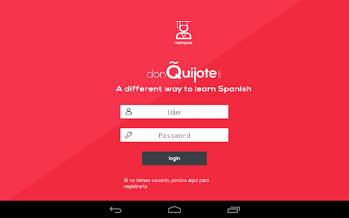 don Quijote Spanish Online - screenshot