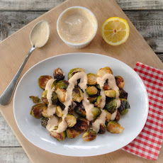 Roasted Brussels Sprouts with Spiced Dijon Dressing