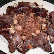 Lamb Shanks With Barley and Garlic