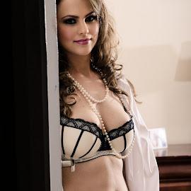 Door by Brad N Sky Thomson - Nudes & Boudoir Boudoir ( #lingerie, #bedroom, #bed, #model, #beautiful )