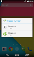 Screenshot of CheckBalance Widget