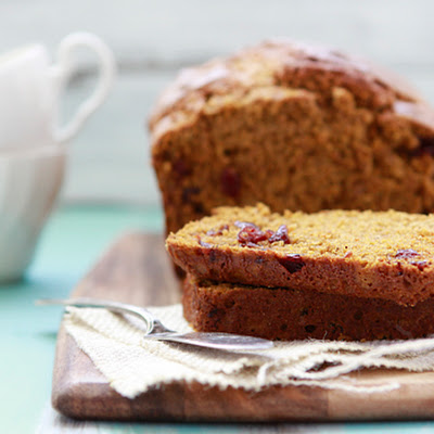 Multi-Grain Pumpkin Cranberry Bread