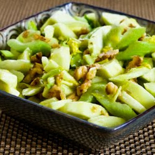 Green Apple, Celery, and Walnut Salad with Lemon-Mustard Vinaigrette