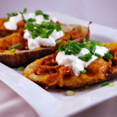 Potato Skins with Bacon and Cheese