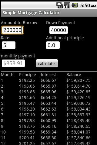 A Mortgage Calculator