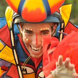 Entertainer in Colorful Regalia by Jose Matutina - People Musicians & Entertainers ( guy, color, male, showbiz', entertainer,  )