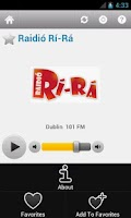 Screenshot of Irish Radio