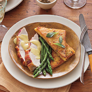 Roasted Turkey Breast with Pan-fried Polenta and Hollandaise Sauce
