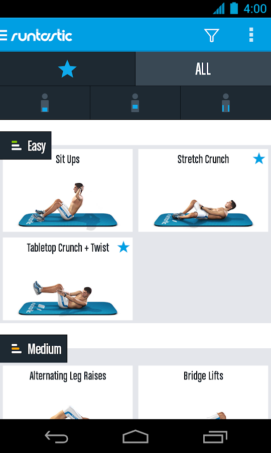 Runtastic Six Pack Ab Workout Screenshot 1