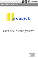 Screenshot of Groupick
