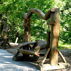 Amazing Tree Benches by Kathy Rose Willis - Artistic Objects Furniture ( wood, bench, art, artistic, artistic objects, swing,  )
