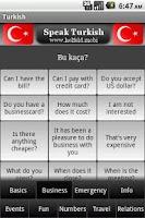 Screenshot of Speak Turkish