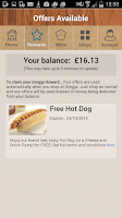 Screenshot of Greggs