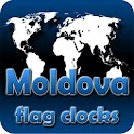 Moldova flag clocks icon