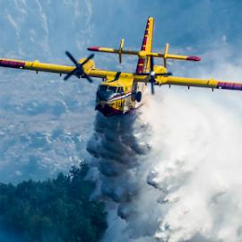 Salvo by Darko Maretić - Transportation Airplanes ( airforce, water drops, plane, wildland, turboprop, wings, firefighting, cl415, fire, smoke, canadair )