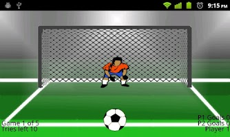 Screenshot of Soccer Penalties Online
