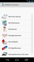 Screenshot of MyMeds Assistant