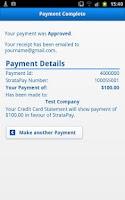 Screenshot of StrataPay