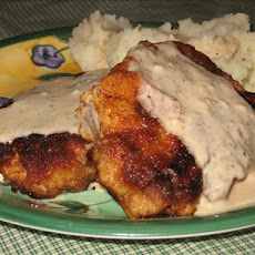 Breaded Pork Chops With Sour Cream Dill Gravy
