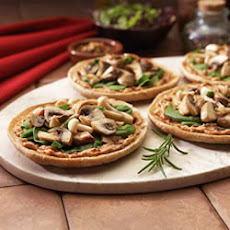 Mushroom and Spinach Mini Pizzas