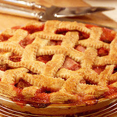 Rita's Raspberry Rhubarb Lattice Pie